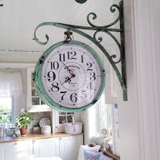 18 Vintage Hanging Pharmacy Clock In Weathered Copper