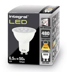 led spot lights gu10 warm white integral led 50 60w halogen