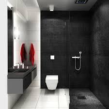 begehbare dusche glaswand bad fliesen schwarz weiß bad