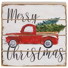 100 Sign Truck Amazoncom Merry Christmas Vintage Red Farm Pickup Wood