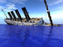 rms lusitania sinking minecraft project