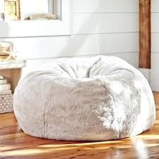 Ivory Polar Bear Faux Fur Beanbag Giant Bean Bag Fluffy Chair White