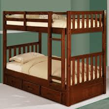 discovery world furniture merlot twin over twin mission bunk bed