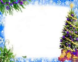 Free Christmas PSD Frame For Photoshop With Tree And Gifts
