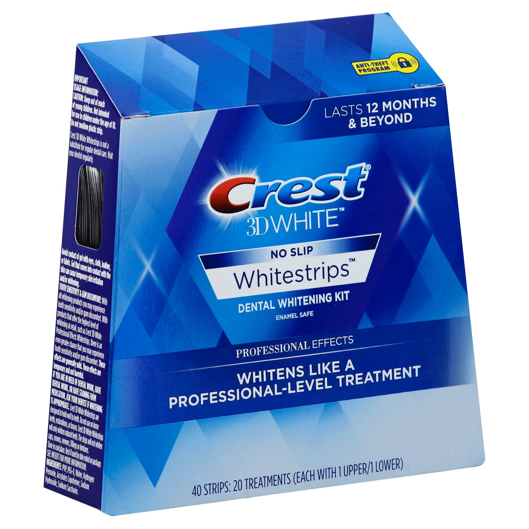 Crest 3D White Whitestrips Dental Whitening Kit Strips - 40 Pack