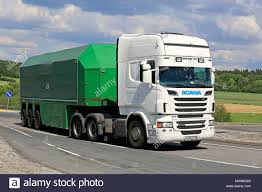 100 Glass Truck White Scania R560 Truck Glass Transport Trailer On Road Intersection