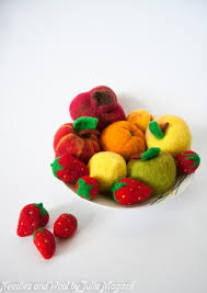 Set Of Any 10 Needle Felted Fruit Your Choice Te Is Specially Find This Pin And More On Play Food Kitchen Decor