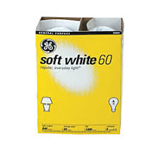 ge soft white incandescent light bulbs 60 watts pack of 4 by
