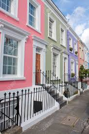 100 Notting Hill Houses Colored London Stock Photo Picture And
