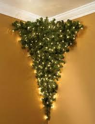 Hanging Upside Down Christmas Tree In Vintage Style
