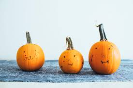 Cute Carved Pumpkins Faces by Mini Halloween Pumpkin Face Family