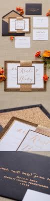 Wood Glitter Bellyband Wedding Invitation