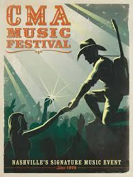 Spirit Of CMA Music Festival Captured In Nashville Poster