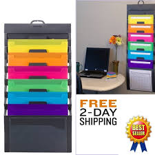 Daily Desk File Sorter Oxford by Wall File Organizer Office Pocket Letter Document Holder Hanging