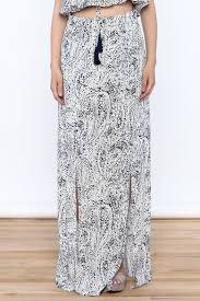 blue print maxi skirt dress ala