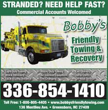 BOBBY'S FRIENDLY TOWING & RECO | Services | Greensboro.com Cdl License Testing North Carolina Transtech Local Truck Driving Jobs In Nc Synergyhealth Inspirational Schools Greensboro Gallery School Asheboro Forge Gezginturknet Shortage Of Truckers Starting To Cause Prices Rise In How Should Trucking Companies Respond The Nice Attack Nrs Traing Tampa Florida Contact Us Careers Thomas Enterprises Accrited Best Resource Charlotte Become A Driverbecome Driver Elite Home Facebook