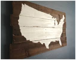 Wooden Fork And Spoon Wall Decor by Reclaimed Wood Diy United States Sign Painted And Stained Us Map