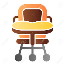 Baby Chair Flat Icon. High Chair Color Icons In Trendy Flat Style...