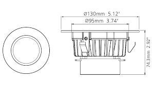 4 LED Retrofit Recessed Lighting Kit With Trim