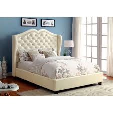 Eastern King Platform Bed by Monroe Eastern King Size Bed Ivory Finish Cm7016iv Ek Bed