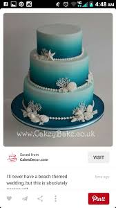 Just The Cake Ombre Color Beach Themed Wedding