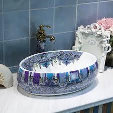 oval jingdezhen waschbecken schüssel keramik waschbecken chinesischen waschbecken porzellan zähler top kleine keramik waschbecken badezimmer