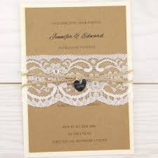 Rustic Themed Wedding Invitations