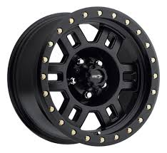 100 16 Truck Wheels Vision 398 Manx Black Wheel X8 5x5 0mm Jeep Wrangler Chevy GMC
