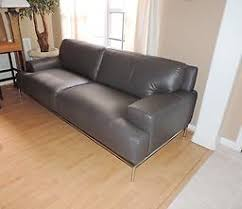 bloomingdale s chateau d ax taylor graphite leather sofa