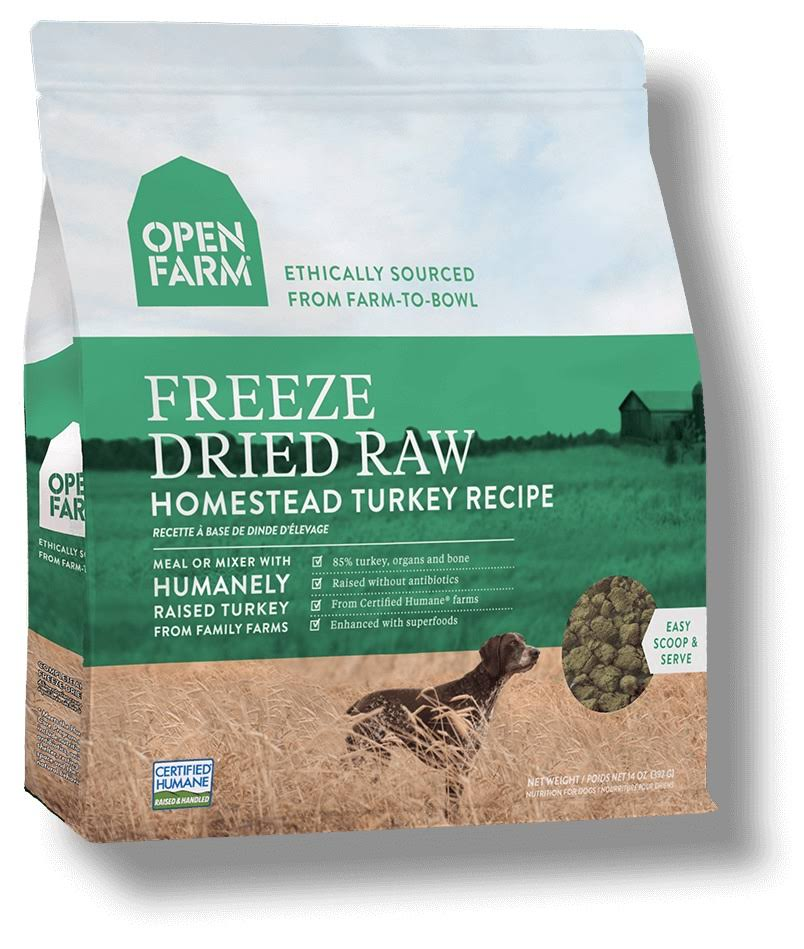 Open Farm Freeze-Dried Raw Homestead Turkey Dog Food, 13.5 oz