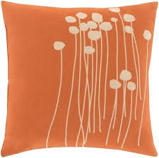 Orange Pillows Lja001 Abo Pillow In Bright Orange Beige
