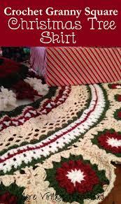 Beautiful Vintage Crochet Christmas Tree Skirt 500 Pattern Download Christmastreeskirt