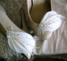 bow bridal shoe clips