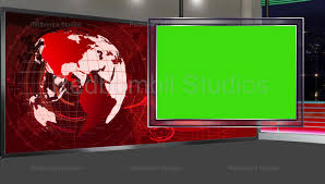 News 18 Broadcast TV Studio Green Screen Background Loopable