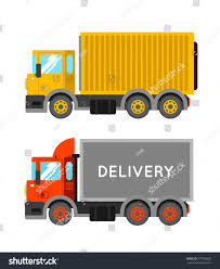 Delivery Truck Container Ton Truck Vector Stock Vector 377036650 ...