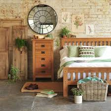 Rustic Oak Bedroom Furniture Exposed Brick Walls