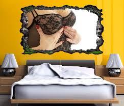 3d wandtattoo frau brust erotik schlafzimmer selbstklebend wandbild wandsticker wandmotiv wand aufkleber11f1049