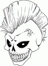 Coloring Page Skull Day Of The Dead Pin Up Girls