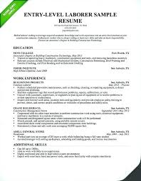 Contractor Resume Examples