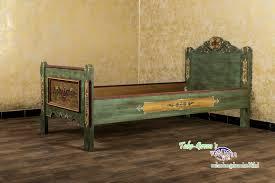 voglauer anno 1800 altgrn einzelbett 90x200 cm landhaus antik bett schlafzimmer