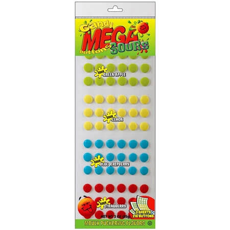 Mega Candy Company Mega Sour Candy Buttons