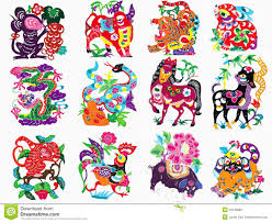 Chinese Traditional Color Paper Cutting Zodiac