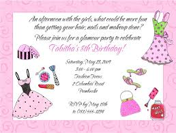 Glamour Girl Makeup Dress Up Birthday Party Invitations