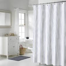 White And Gray Striped Curtains by Bathroom Blue Grey Shower Curtain With Horse Pattern For Bathroom