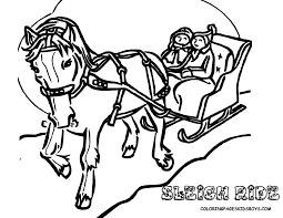 Printouts Of Sleigh Ride Christmas Coloring Sheet At YesColoring