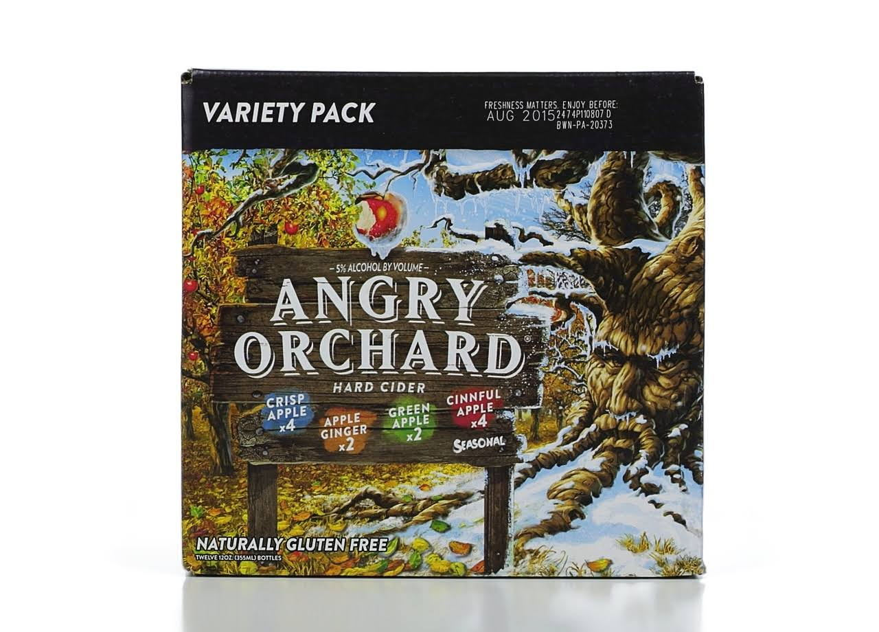 Angry Orchard Hard Cider Variety Pack - 12x12 Pack