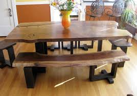 Corner Kitchen Table Set With Storage by Kitchen Table Rectangular Corner With Bench Wood Live Edge 6 Seats