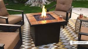 uniflame lp gas ceramic tile pit table uniflame lp