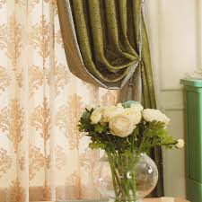 Valances Curtains For Living Room green living room curtain ideas chenille no valance
