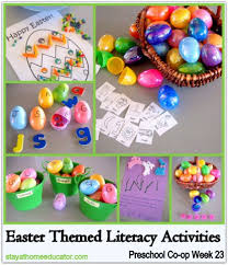 Easter Themed Literacy Activities Preschool Co Op Week 23